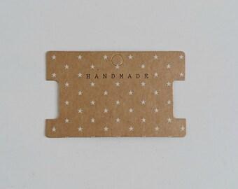 Jewelry card for bracelet. Handmade  10x6mm.  5 units