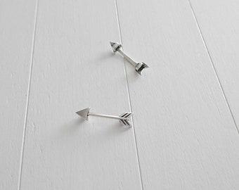 Entrepieza Arrow PIN. Zamak Silver Bath. 30x7mm. DIY