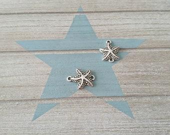 Sea Star Connector. 24x18mm. Zamak