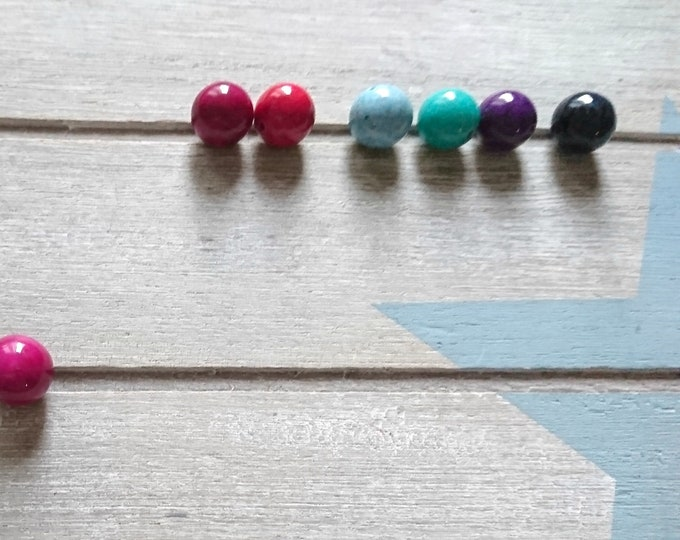 10 natural stones beads 12mm. Various colors available