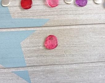 Irregular hanging trinket. pink resin. 16mm 1 unit