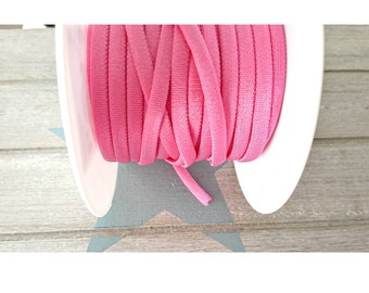 1 meter of pink tubular elastic band 4.5mm.