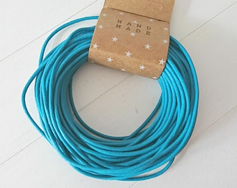 2mm round leather. Moon Blue.