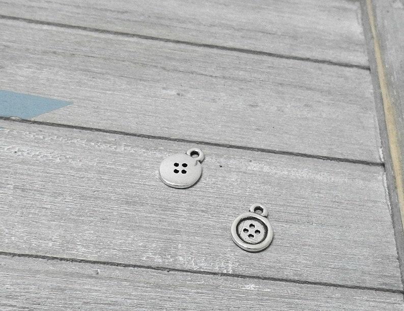 17x12mm Zamak Pendant button Diy.