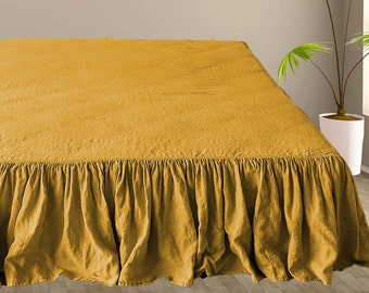 Yellow Bed Skirt Etsy
