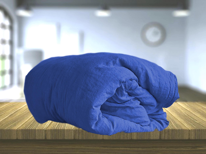 3 piece Royal blue linen bedding set. Linen Duvet Cover + 2 Linen pillowcases. Twin, Full, Queen, King size. Linen Duvet Set CUSTOM sizes