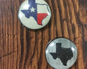 License Plate Recycled/Magnets/Magnet Set/Texas/Unique/Black/Red/White/Blue
