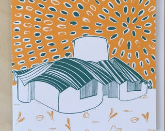 Frank Gehry's Maggies Centre Greetings Card / Dundee Delights / Blank Card / Birthday Card / Dundee Art / Marrs Green / Architecture
