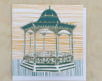 Magdalene Green Bandstand Greetings Card / Dundee Illustration / Blank Card