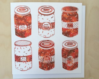 9 Dundee Marmalade Greetings Card in marmalade orange / Scottish art / illustrated card /