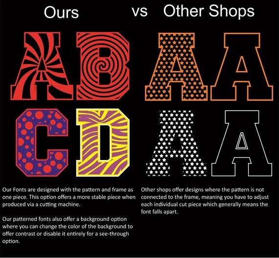 Buy 2 Get 1 Free Tiger Alphabet Font Ai Cdr Eps Svg Dxf Etsy