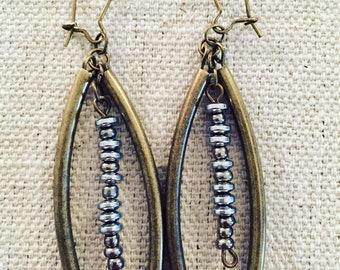 TACOS - Beaded Morse Code Dangle Earrings