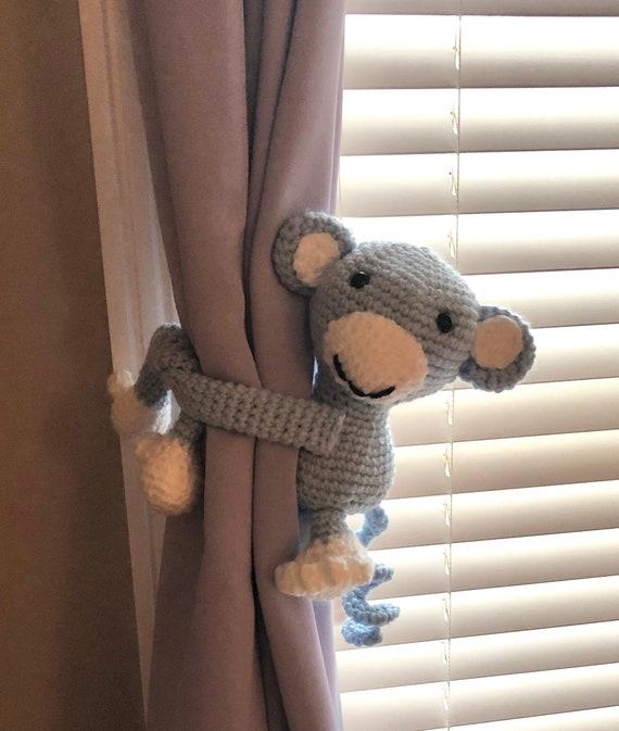Crochet Chucky Curtain Tie Backs, Amigurumi PDF PATTERN ONLY ... | 673x570