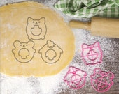 Stained Glass Baby Animal 2 Cookie Cutter Cat Cookie Cutter Bear Cookie Cutter Chicken Cookie Cutter