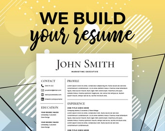 resume maker etsy