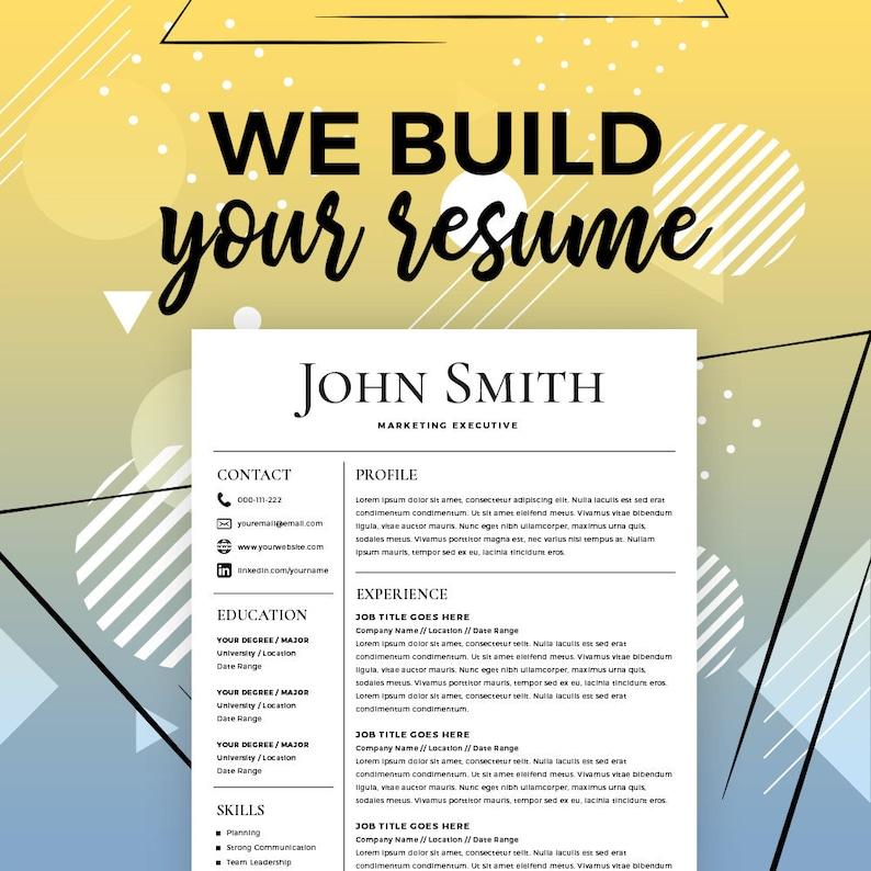 Resume Service Creator Online Maker Build My