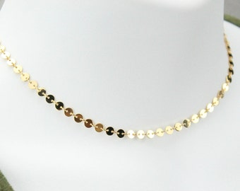 Gold Plated Disc Choker