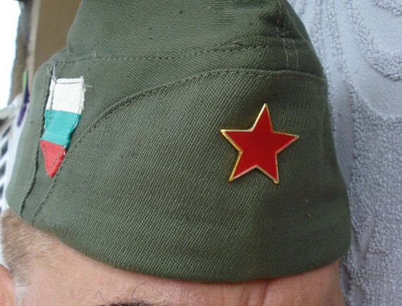 a820f2ee1a8 Vintage Military Bulgarian Army Cap  Communist Soldier Hat