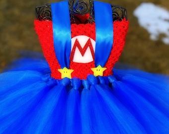 Blue Tutu Girls Mario Outfit Mario Tutu Outfit Mario Birthday