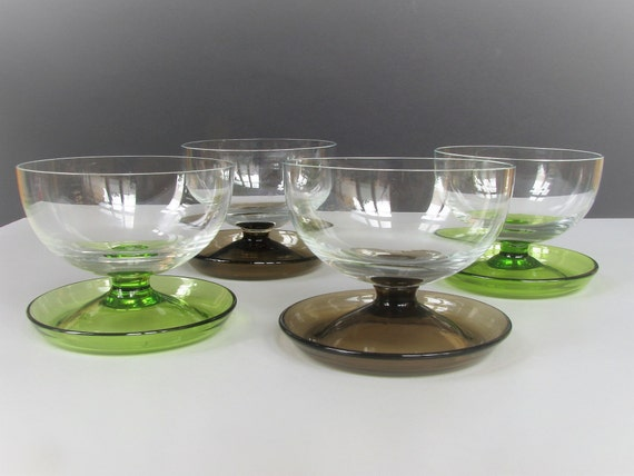 4 x ice cream cups made of metal vintage germany decoration gift bowls dessert