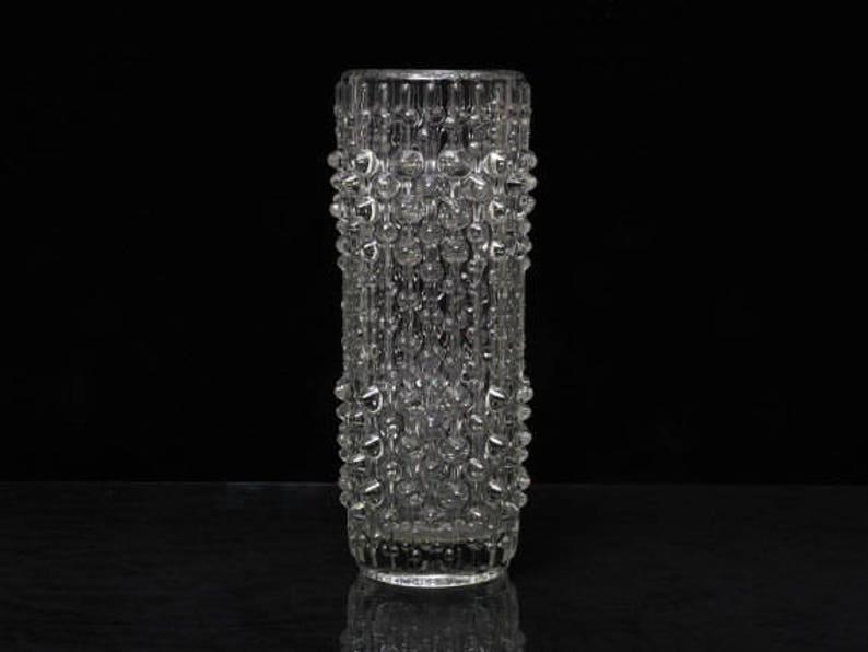 Vintage Sklo Union Candle Wax Glass Vase Pottery & Glass Frantisek Peceny Retro Art Glass Bohemian/czech