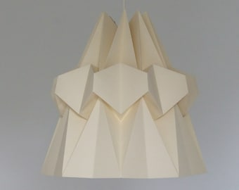 Hanging lamp HAIRI paper. Hanging in origami. Light in a Japanese spirit.