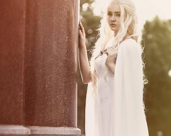 Inspired by Game Of Thrones Daenerys Targaryen season 5 white dress custom made to your size!