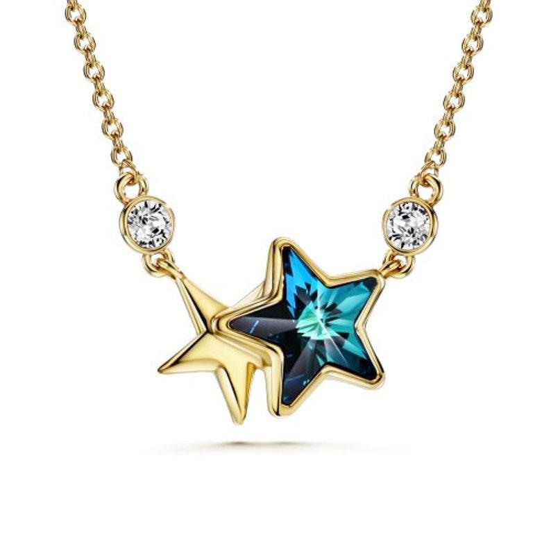96af8aabefa Twin Stars Baha'i Necklace with Swarovski Crystals   Etsy