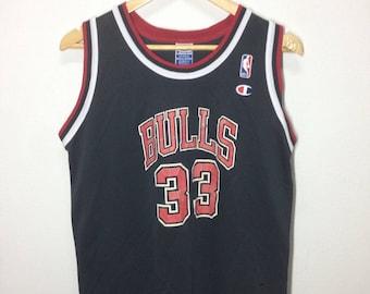 Rare!!! Vintage Chicago Bulls Champion Basketball Jersey Player Nice Design 5b2277d72