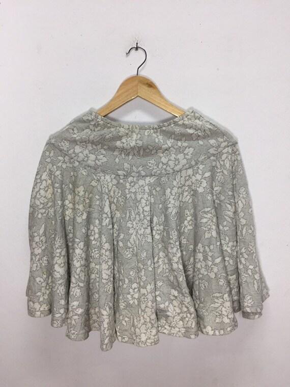 Rare!!! Vintage Mini Skirts Norma Kamali Flowers D