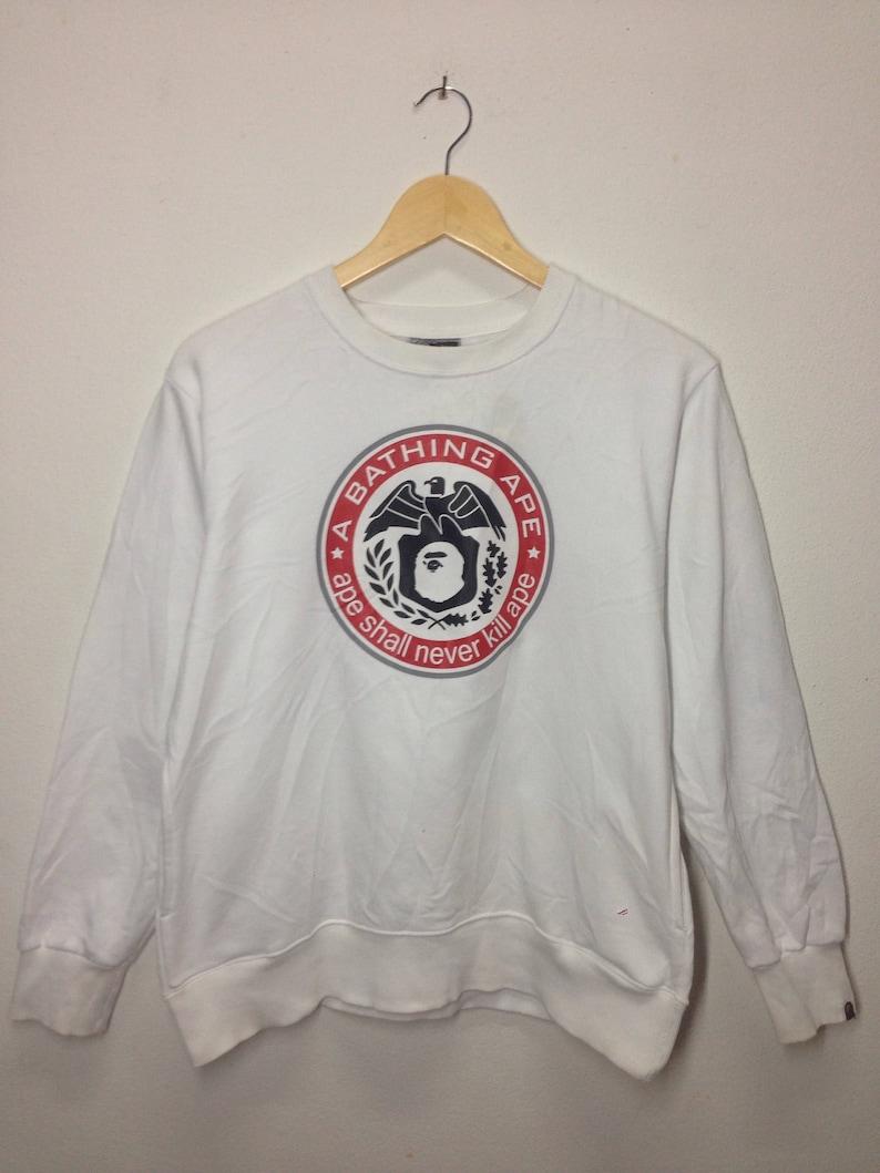 f7b72396 Rare Vintage Sweatshirt A Bathing Ape Crewkneek Ape Shall | Etsy
