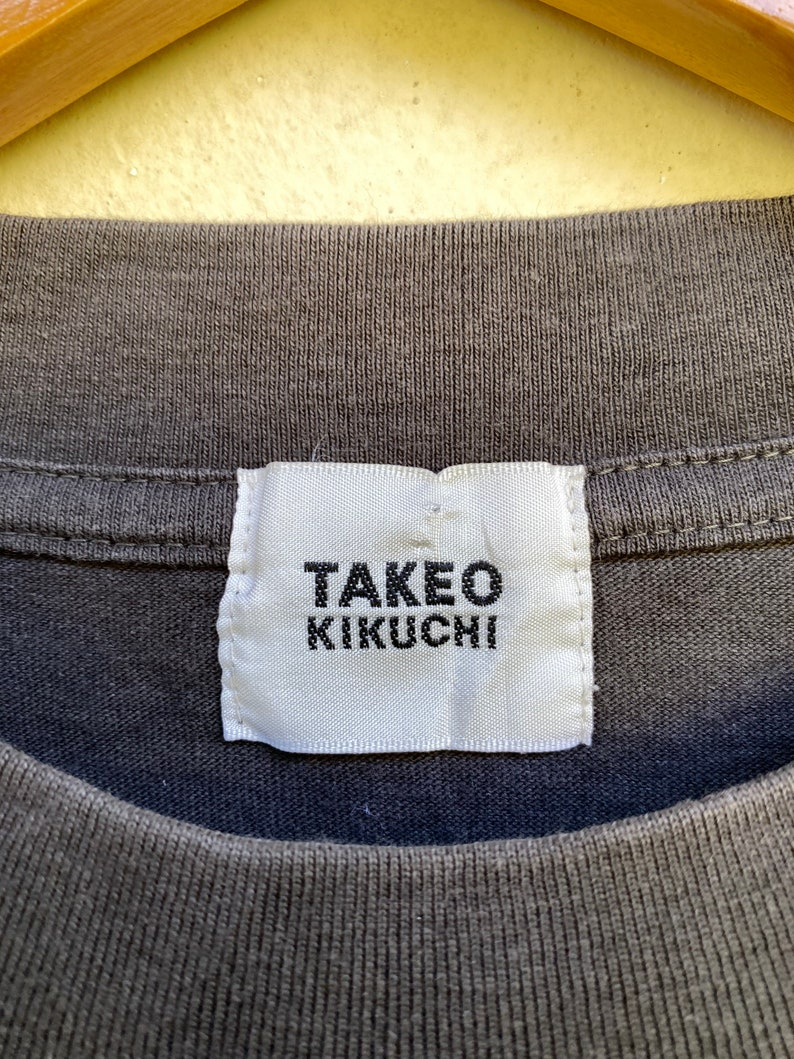 Vintage Tshirt Takeo Kikuchi Establi-Shment Fullprint Size M
