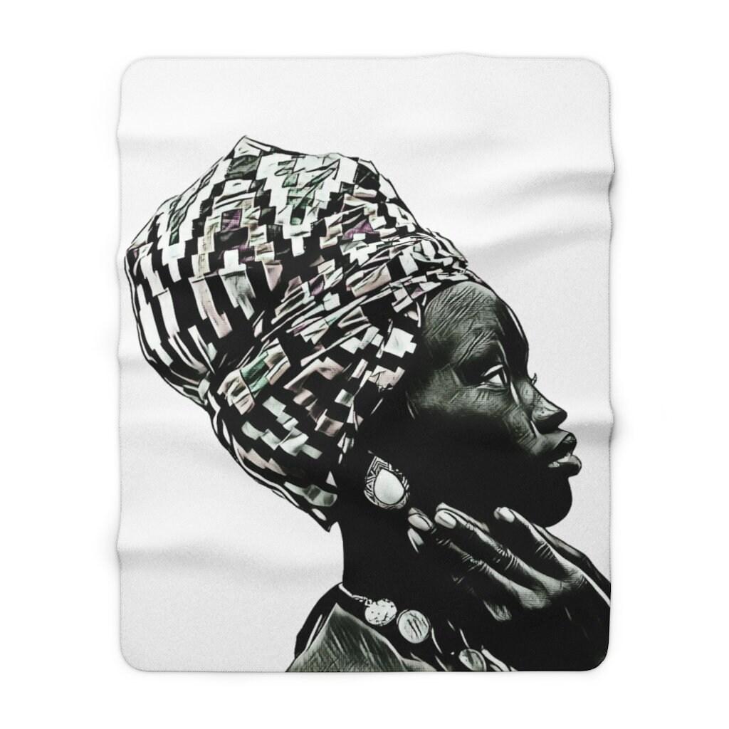 Plaid double face Femme Africaine