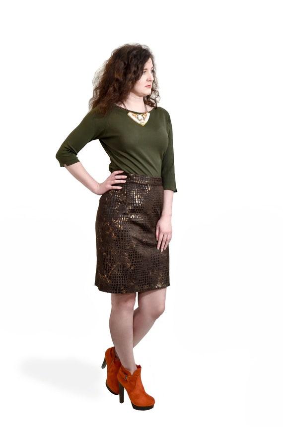 High waist skirt  Fluffy skirt  Pleated skirt Long skirt Ankle skirt  Animal print skirt  Elegant clothes  Party skirt Office skirt
