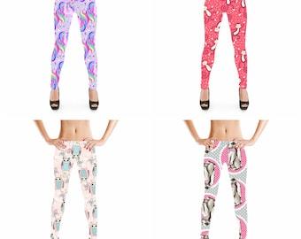 Printed Leggings for Women Easter Angry Rabbit 3//4 High Waist Yoga Pants Sport Gym Leggings Workout