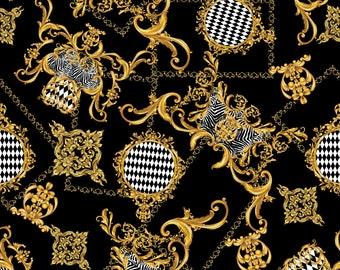 Men/'s Baroque Zebra Harlequin Floral Damask Scarf Print V-Neck T-Shirt Top Tee