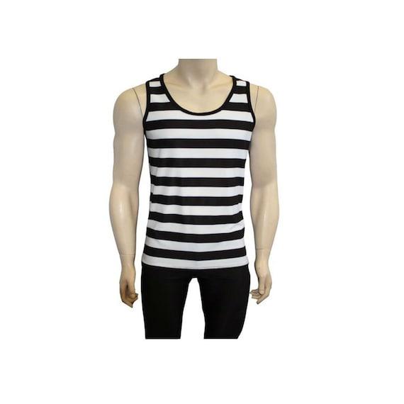Men/'s Black And White Harlequin Diamonds Print V-Neck T-Shirt Top Goth Punk Emo