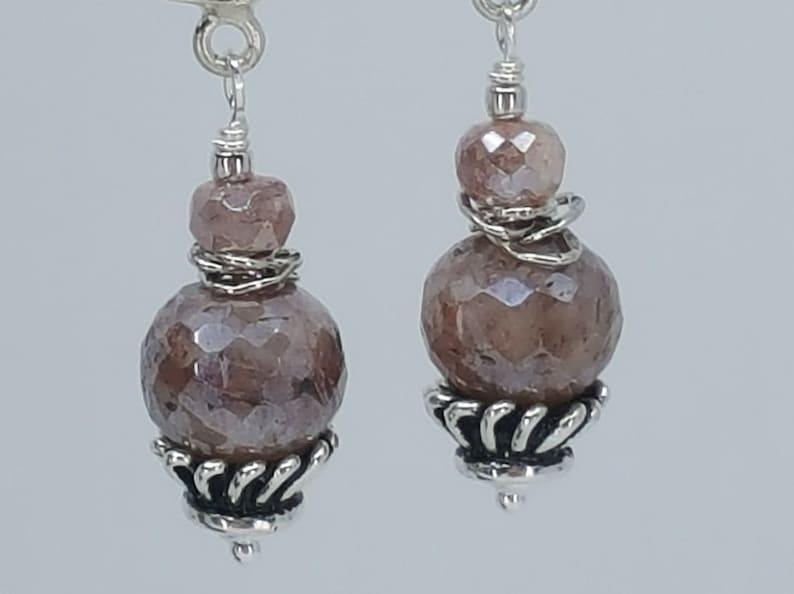 Long Silver Earring Druzy Earring Silver Dangle Earring Sparkle Earring Sparkle Dangle Earring by Charissa Designs. Long Druzy Earring