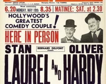 Set of 2 fridge magnets 7.5 cm x 4.5 cm  Laurel And Hardy
