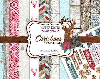 Scrapbooking paper pad 12x12  CHRISTMAS winter New Year