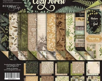Paper pad 20x20 cm 8x8 botany Forest