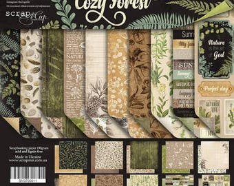 Scrapbooking paper pad 30x30 cm 12x12 botany Forest