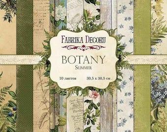 Scrapbooking paper pad Botany summer