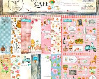 Scrapbooking paper pad  30 cm \12x12 recipe books cafe sweeties