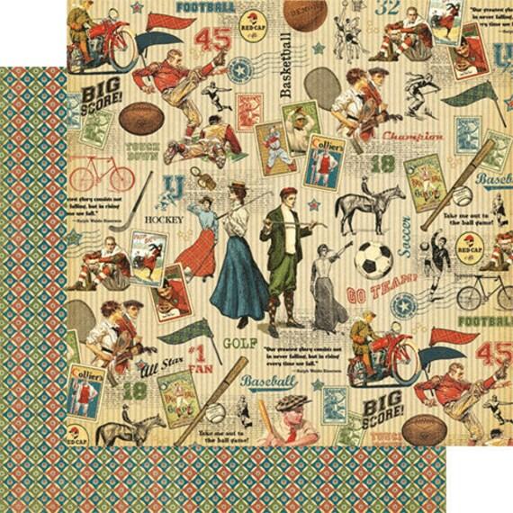 Bloc papier scrapbooking 30x30 Good Good 30x30 Ol'Sport Graphic 45 f5c847