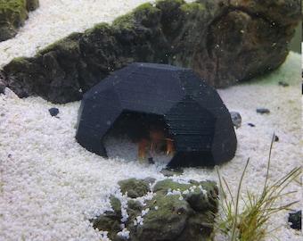 Single-Entry Geometric Aquarium Dome Shelter Tank House Decor for Shrimp, Fry, Crayfish, and Fish
