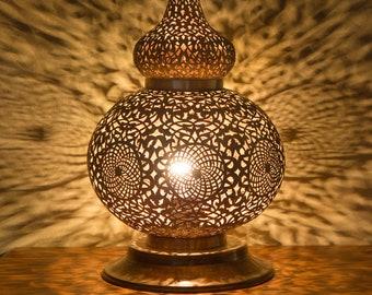 Moroccan Lantern, Moroccan Lamp, Handmade Brass Lamp, Moroccan Table Lamp,  Moroccan Decor
