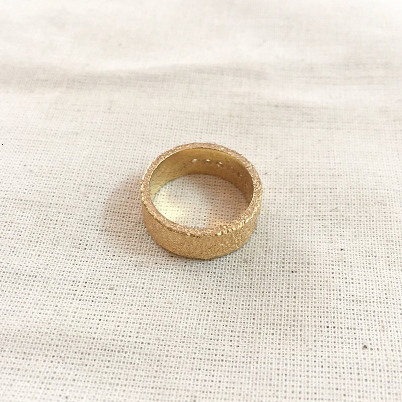 Diamond Vermeil 14K Gold Over Sterling Silver Band
