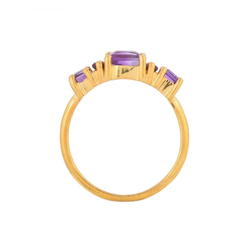 Amethyst /& Garnet 14K Gold Vermeil Over Sterling Silver Ring