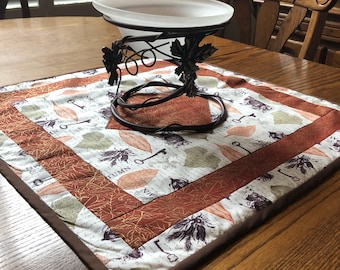 Keys n Leaves/Org. 2 sided Table Topper